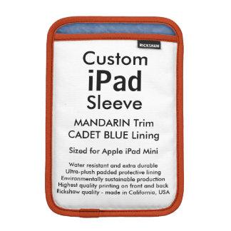 Custom iPad Mini Sleeve - (Mandarin & Cadet Blue)