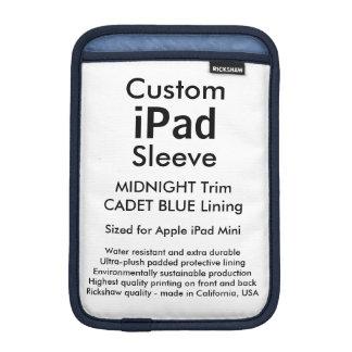 Custom iPad Mini Sleeve - (Midnight & Cadet Blue)