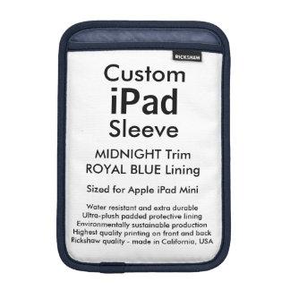 Custom iPad Mini Sleeve - (Midnight & Royal Blue)