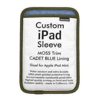 Custom iPad Mini Sleeve - (Moss & Cadet Blue)
