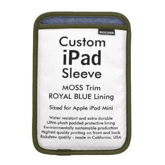 Custom iPad Mini Sleeve - (Moss & Royal Blue)