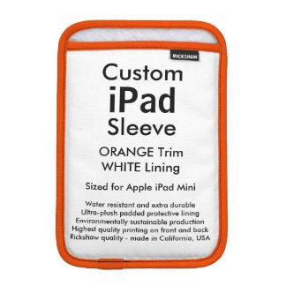 Custom iPad Mini Sleeve - (Orange & White)