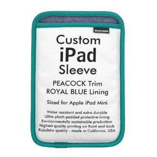 Custom iPad Mini Sleeve - (Peacock & Royal Blue)