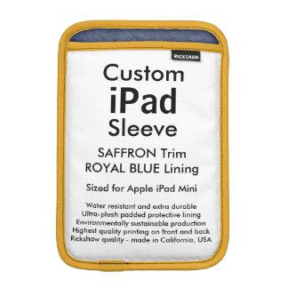 Custom iPad Mini Sleeve - (Saffron & Blue)