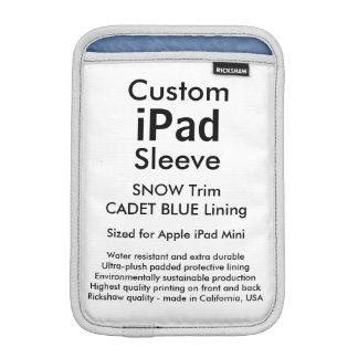 Custom iPad Mini Sleeve - (Snow & Cadet Blue)