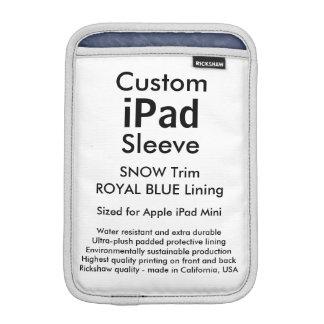 Custom iPad Mini Sleeve - (Snow & Royal Blue)