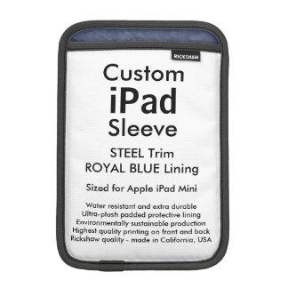 Custom iPad Mini Sleeve - (Steel & Royal Blue)