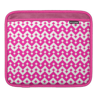Custom iPad Sleeve, Candy Pink Geometric Pattern iPad Sleeve