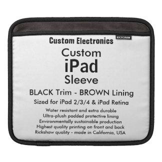 Custom iPad Sleeve - Horizontal (Black & Brown)