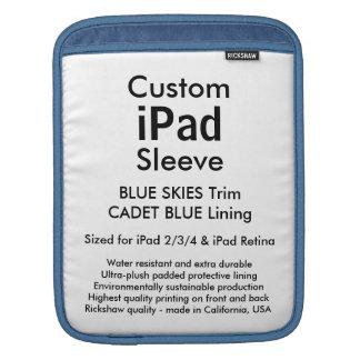 Custom iPad Sleeve - Vertical (Blue Skies & Blue)