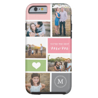 Custom iPhone 4 Mother's Day Photo Collage Tough iPhone 6 Case