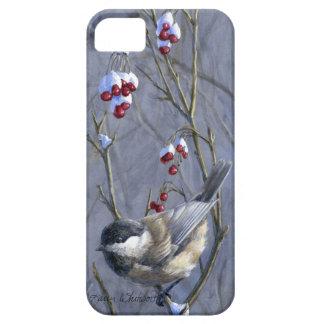 Custom iPhone 5/5s Chickadee Bird Art Case