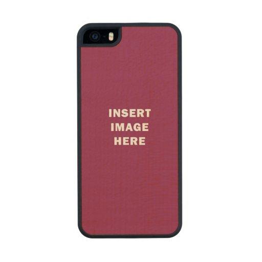Custom iphone 5 5s slim wood case template diy zazzle for Diy phone case template