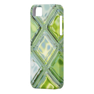 Custom iPhone 5 Case Lime Ice Glass Mosaic