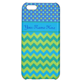 Custom iPhone 5C Case: Polka Dots and Chevrons