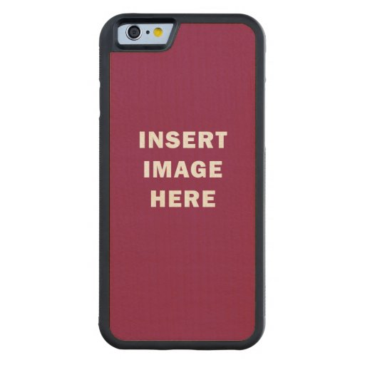 Custom iphone 6 bumper wood case template diy zazzle for Diy phone case template