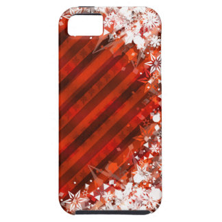 Custom iPhone Case - Holiday Red w/Snowflakes iPhone 5 Cases