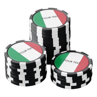 Custom Italian flag poker chips for Italy