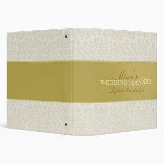 Custom Ivory Lace Wedding Planner Binder