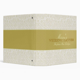Custom Ivory Lace Wedding Planner 3 Ring Binder