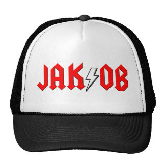 custom JAKOB rock and roll shirt Trucker Hats