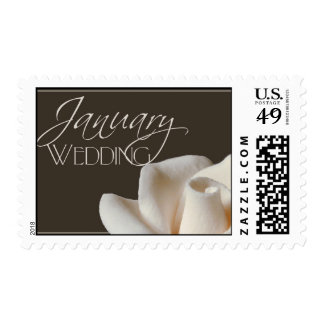 Custom January Wedding rose postage