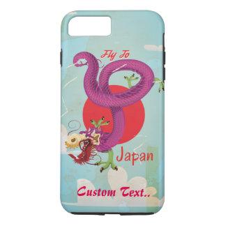 Custom Japan Dragon Vintage Travel Poster iPhone 8 Plus/7 Plus Case