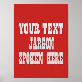 Custom jargon poster
