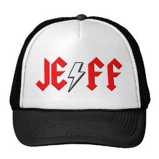 custom JEFF rock and roll shirt Trucker Hats