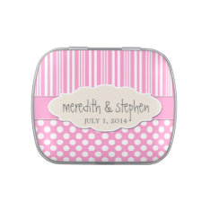 Custom Jelly Belly or Mint Tin Wedding Favor Jelly Belly Tin at Zazzle