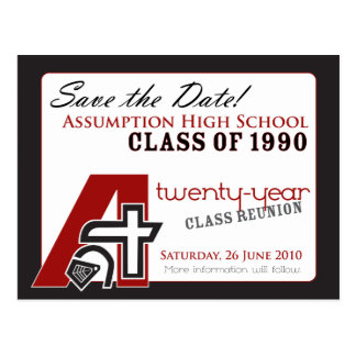 ::custom::_jenni Class Reunion Save-the-Date v1 Postcard