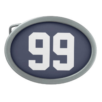Custom jersey number belt buckle for him or her