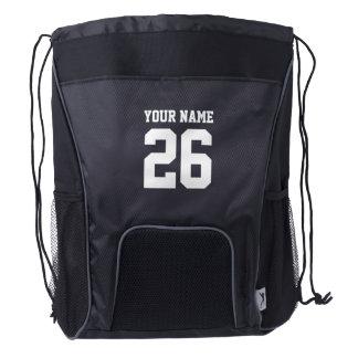 Custom jersey number sports drawstring backpack