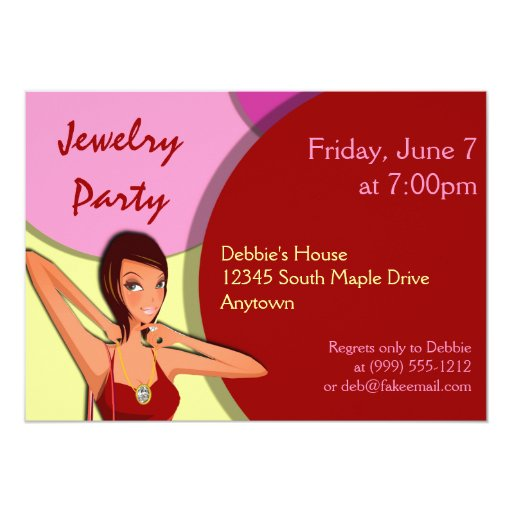 2,000+ Jewelry Party Invitations, Jewelry Party Announcements & Invites | Zazzle