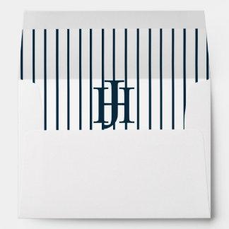 Custom JHYankees Baseball 5x7 Bar Mitzvah Monogram Envelope