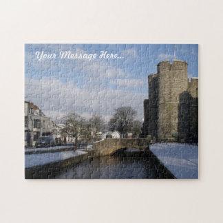Custom Jigsaw Puzzle - Old Gatehouse Snow Scene