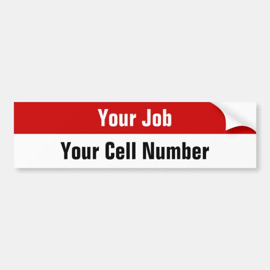 Custom Job Seeker Stickers - Cell Phone Number