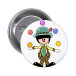 Custom Juggling Clown Pinback Buttons