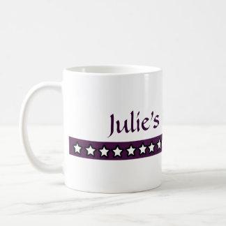 Custom Julie Cup of Tea Coffee Mugs