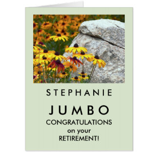 Custom JUMBO HUGE Yellow Flowers Retirement Card