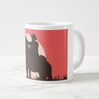 custom, jumbo, white, mug, cowboy, image giant coffee mug