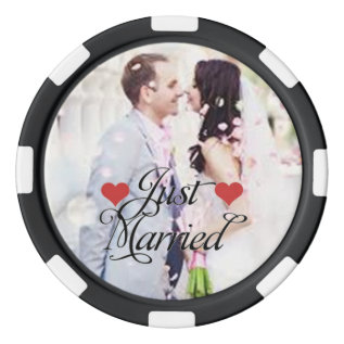 Custom Just Married Las Vegas Poker Chips Set at Zazzle
