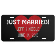 Custom Just Married License Plate Wedding Gift at Zazzle