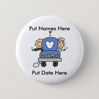 Custom Just Married Wedding Button