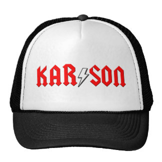 custom KARSON rock and roll shirt Mesh Hats