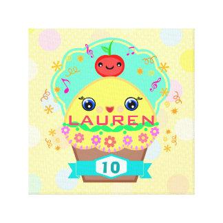 Custom Kawaii Cupcake Wrapped Canvas Canvas Print