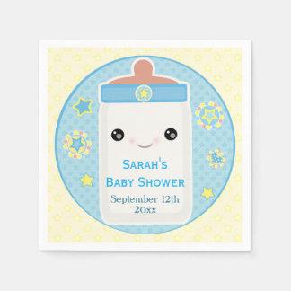 Custom Kawaii Infant Boy Baby Shower Napkins