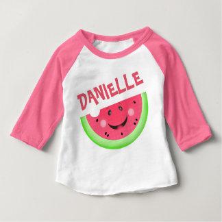 Custom Kawaii Watermelon Baby Girl Raglan T-Shirt