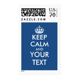 Custom Keep calm and your text 70 cent stamps