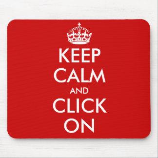 Custom Keep Calm Mousepad Customizable template